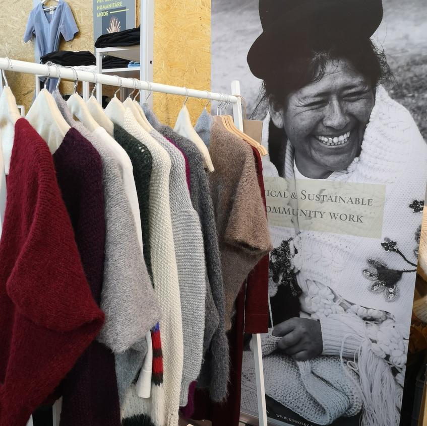 Kinfolkz auf der Fairhandeln Kleidung -