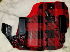 43X A.I.W.B 2 Piece Holster in Red and B