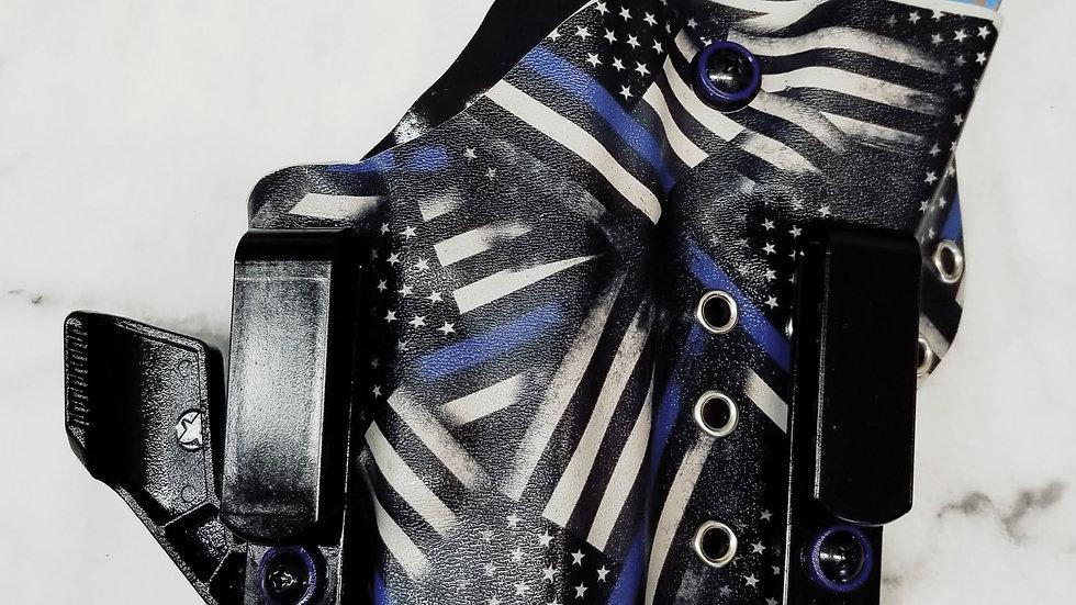 Thin Blue Line American Flag A.I.W.B.