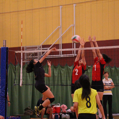 National School Volleyball 2015 - 'A' Division Girls Semi-final (HCI vs VJC)