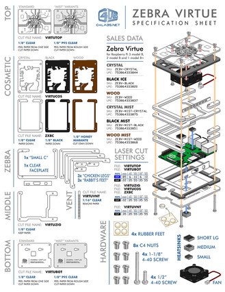 Product Manufacturing Spec Sheet