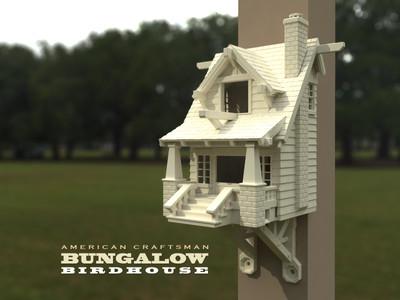 American Craftsman Bungalow Birdhouse