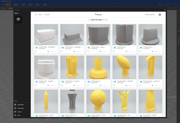 3D Printable Trophies for Microsoft