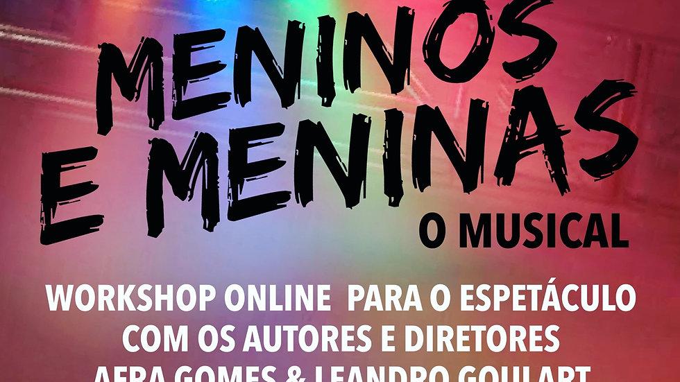 Workshop Online Meninos e Meninas - ATENÇÃO: PARA PARCELAMENTO,  ESCOLHA PAGAR P