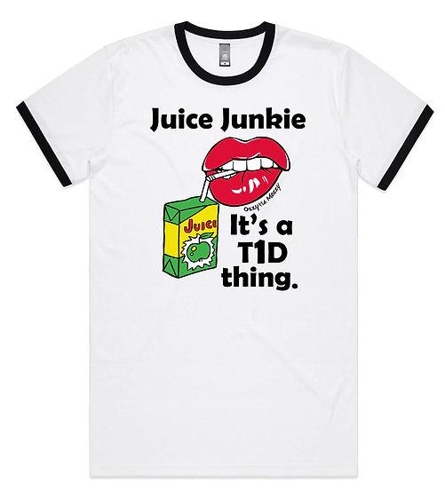 Womens Juice Junkie Ringer Tee