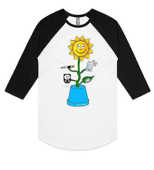 Unisex Raglan Type 1 Sunflower Tee