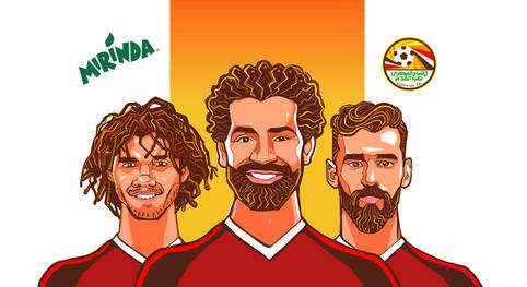 Egyptian Soccer team Characters for Mirinda