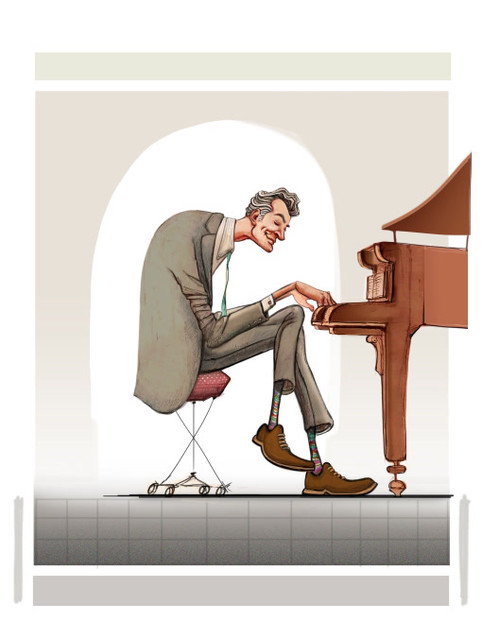 Pianist in the zone