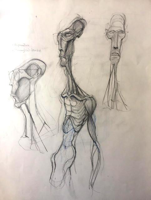 Mummy inspired design sketch
