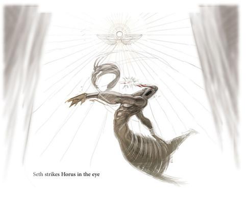 Seth fighting Horus