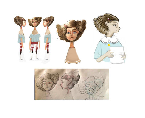 Little girl from Egypt sketches