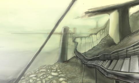 dystopian Cairo concept sketch