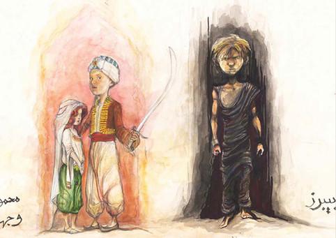 Little kids Character Sketch, Arabian nights