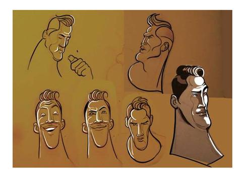 Footballer facial expression sketches - Cadbury