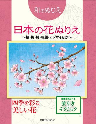 和のぬりえ 日本の花ぬりえ~桜、梅、椿、朝顔、紫陽花ほか~