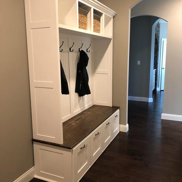 Hall tree organizer.