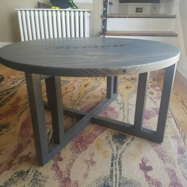 "36"" diameter coffee table"