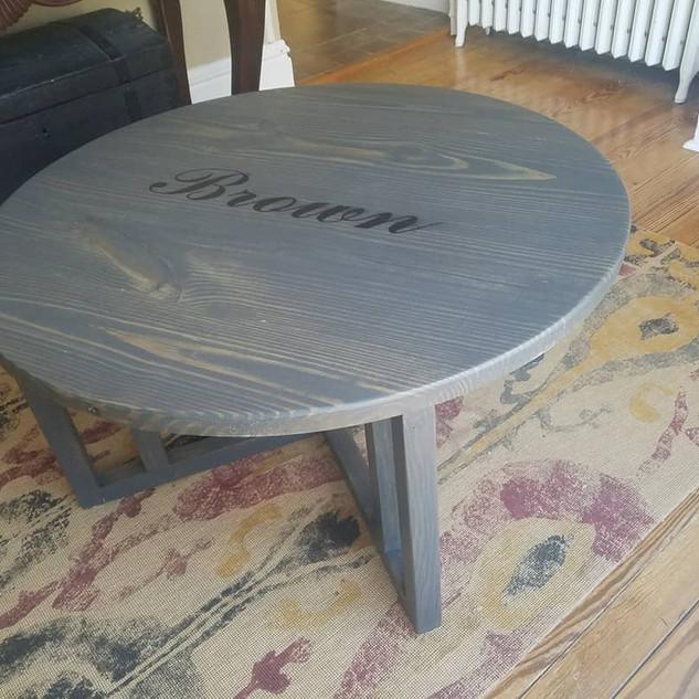 "36"" diameter coffee table"