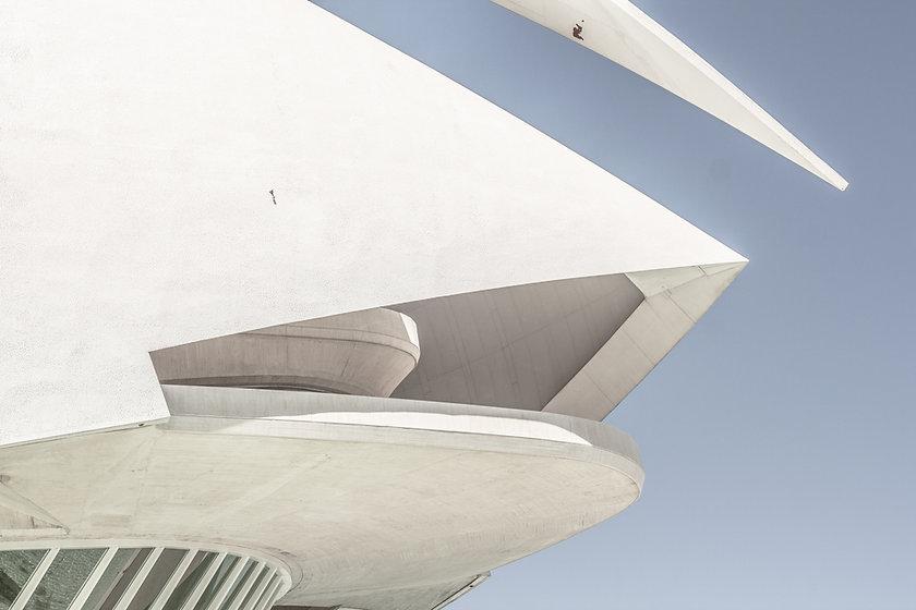 Modern White Structure
