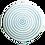 Thumbnail: Striped Dinner Plate Turquoise & White Set of 4