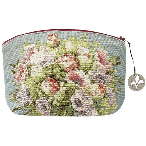 French Tapestry Cosmetic Bag - Bouquet