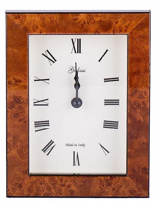 Italian Alarm Clock - Polished Burl