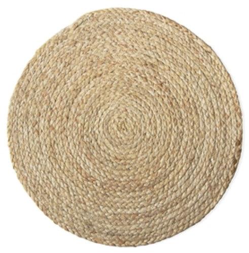 Braided Straw Round Placemat - Set 4