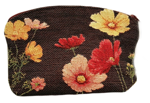 French Tapestry Cosmetic Bag - Poppies
