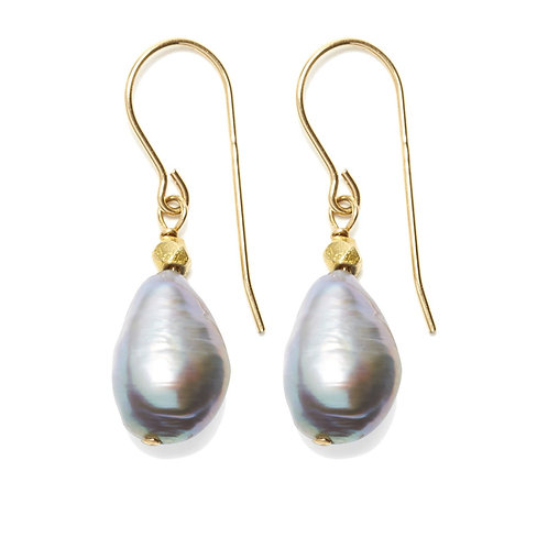 Sofie Earrings Grey Pearl