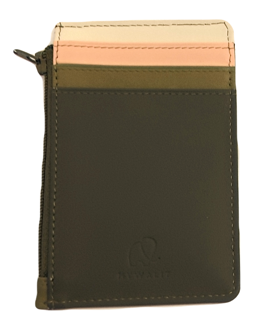 Mini Leather Cardholder/Wallet - Olive