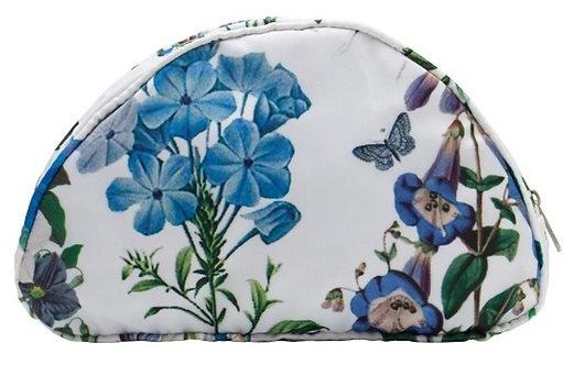Moody Blues Floral Waterproof Cosmetic Bag - Medium
