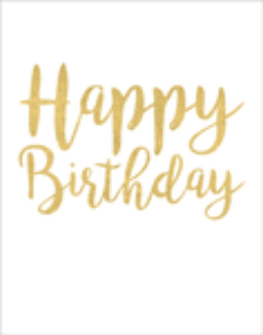 Gift Insert Card with Envelope - Happy Birthday