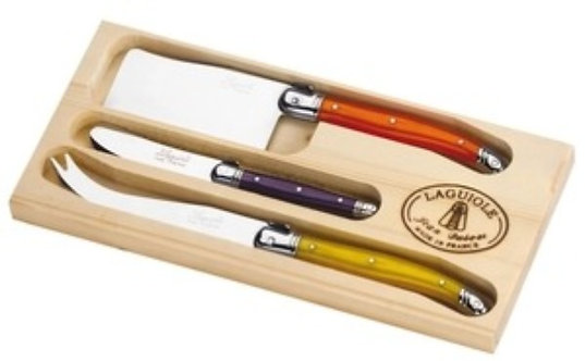 Jean Dubost 3pc Cheese Set in Fruity Multicolor