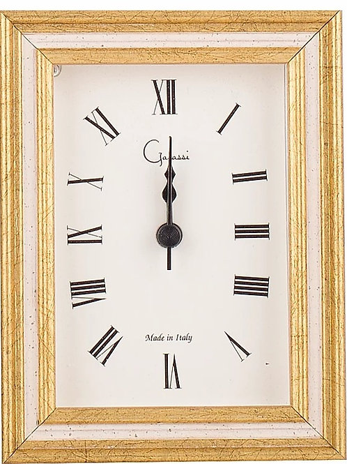 Italian Alarm Clock - Gold & White