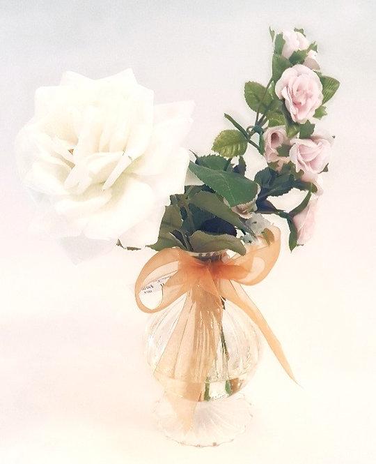 Silk Flowers White Rose