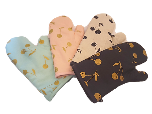 Cherry Oven Mitts - Singles