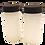 Thumbnail: Salt & Pepper Shakers White Hobnail Glass