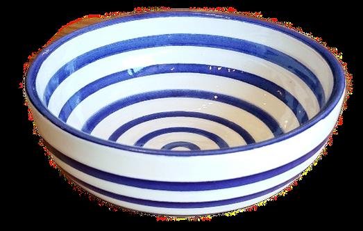 Striped Cereal Bowl - Cobalt & White Stripe - Set of 4