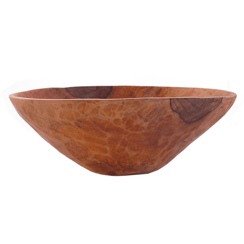 Carved Wood Salad Bowl from Peru