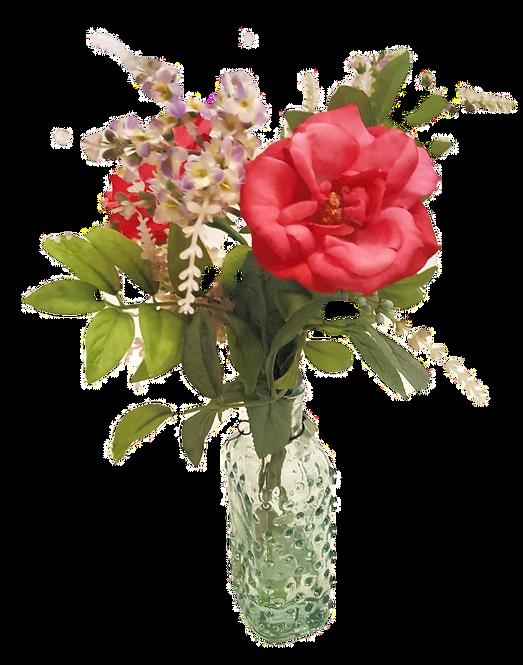 Silk Flower Arrangement Rose & Lilac