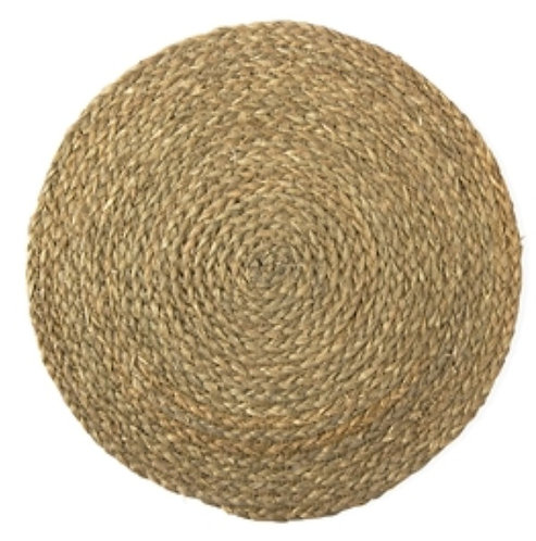 Braided Natural Seagrass Round Placemat - Set of 4