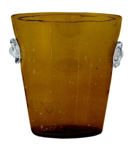 Two-Tone Glass Ice Bucket