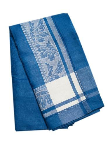 Majesty French Blue Linen Tablecloth 70 x 70