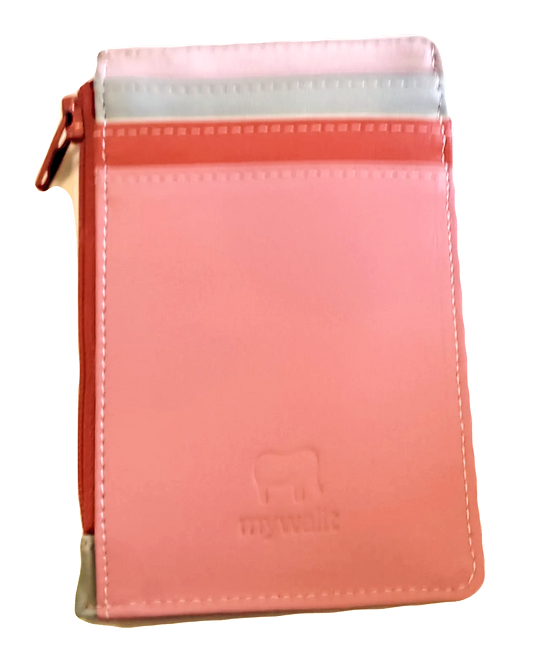 Mini Leather Cardholder/Wallet - Ruby