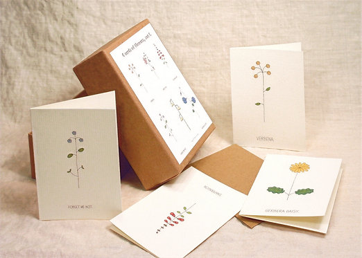 Box of Mini Flower Cards/Gift Enclosures
