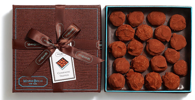 MarieBelle New York 20-Piece Hand Rolled Champagne Truffles