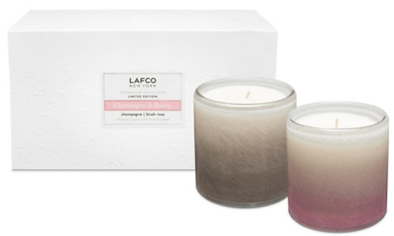 LAFCO Champagne and Roses Candle Gift Set