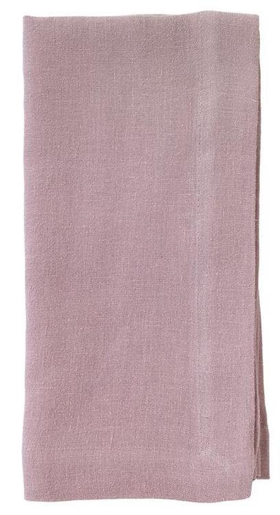 Riviera Stone Washed Linen Napkin Mauve - Set of 4