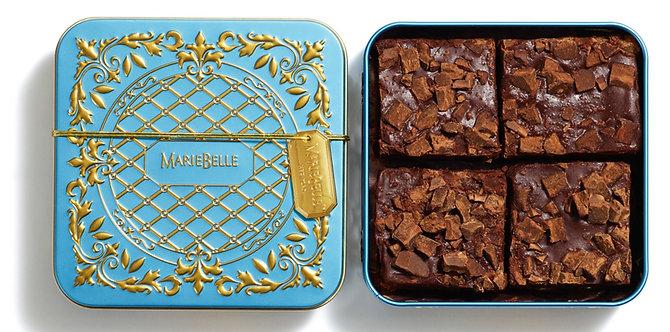 MarieBelle New York 4-Piece Box of Ganache Brownies