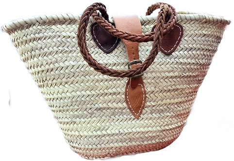 Market Bag with Leather Buckle